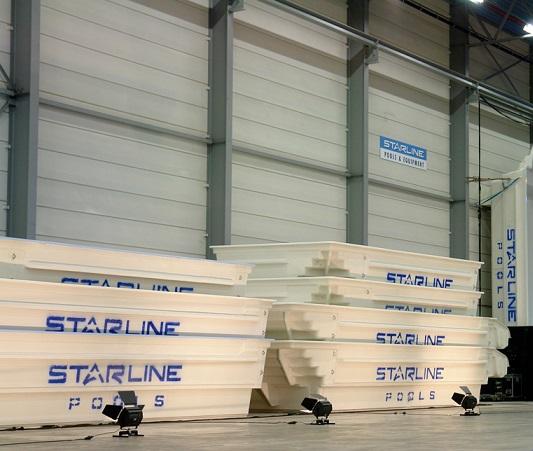 Polyester schwimmbecken produktion starline pool gmbh for Schwimmbecken polyester