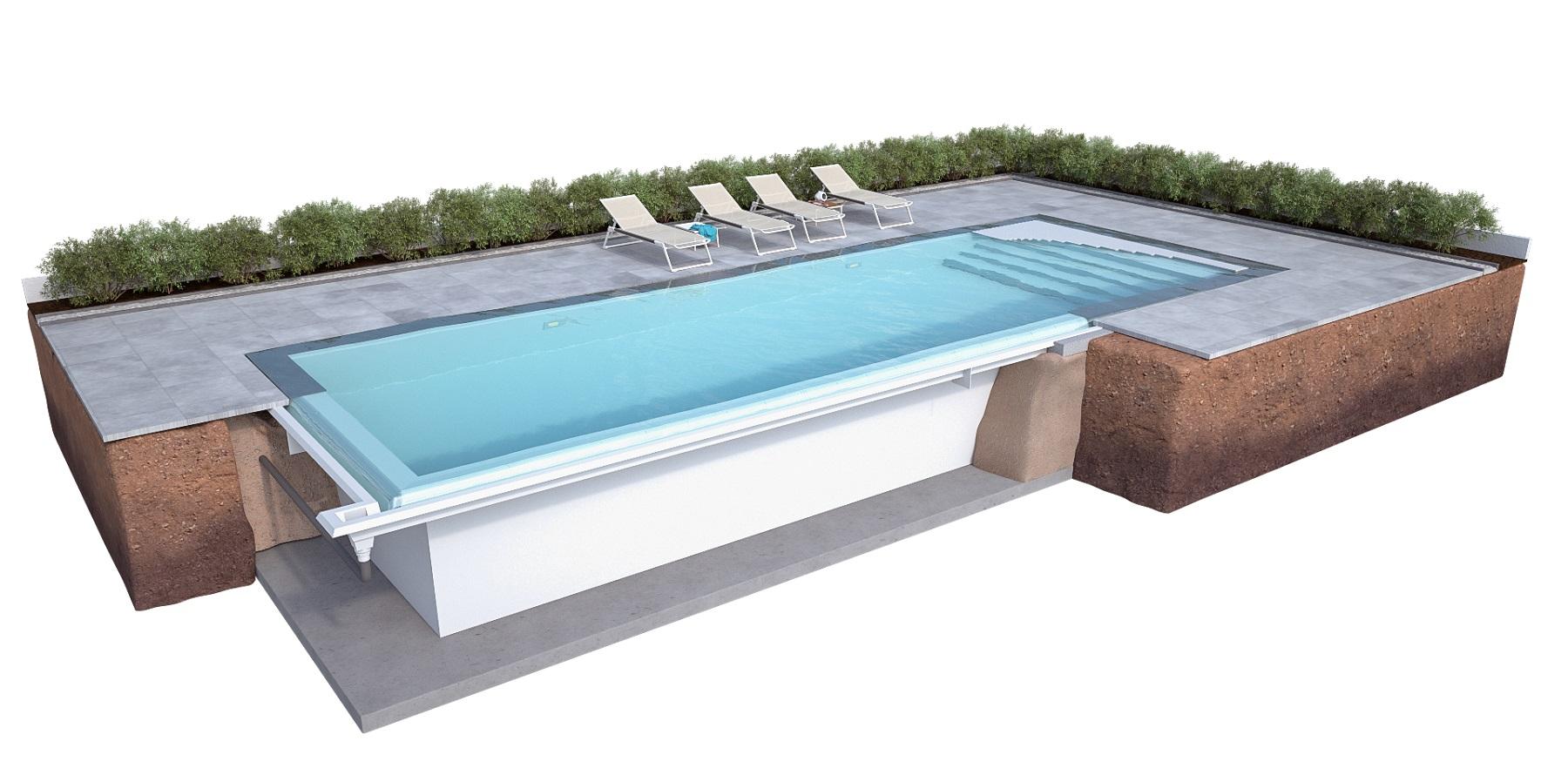 fertigschwimmbecken nexxt line mit berlaufrinne. Black Bedroom Furniture Sets. Home Design Ideas